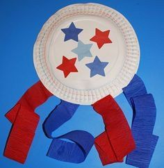 52 DIY July Independence Day Crafts for Kids - Kids Names - Ideas fo Kids Names - DIY July Independence Day Crafts : Paper Plate Flag Decorative 4th July Crafts, Fourth Of July Crafts For Kids, Patriotic Crafts, 4th Of July, Patriotic Party, Toddler Art, Toddler Crafts, Infant Crafts, Summer Crafts