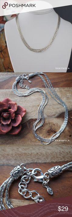 Multi Layer Silver Tone Choker Description coming soon with measurements. Premier Designs Jewelry Necklaces