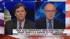"""This is selective injustice against a particular president who is unpopular with Democrats, and it's just not right.""  Professor Alan Dershowitz argued there are ""no allegations of any independent criminal conduct"" against President Trump."