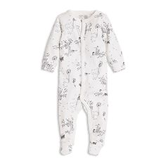 Pyjamas med fötter Vit
