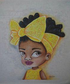 Black Girl Art, Black Women Art, Black Art, Art Girl, African Artwork, African Paintings, 3d Paper Crafts, Afro Art, African American Art