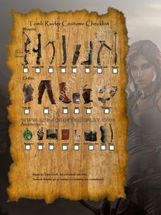 Awesome website with guide and youtube tutorials on a thorough DIY Lara Croft cosplay!