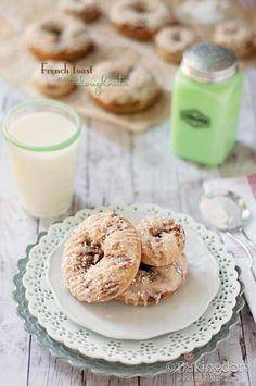 French Toast Cake Doughnuts with Maple Glaze