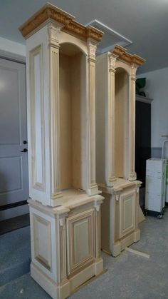 Mantel Surround by Probuilt Woodworking LLC Macomb, Michigan pinned with Pinvolve Furniture Projects, Furniture Plans, Wood Furniture, Home Projects, Furniture Design, Woodworking Plans, Woodworking Projects, Woodworking Machinery, Mantel Surround