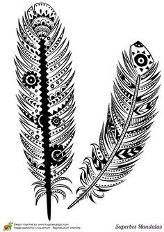 Vecteur Peerless Decoratif Feather La Conception Tribal Tatouage