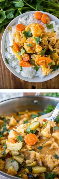 6 Ingredient One Pot Vegetable Curry from The Food Charlatan // You are one hour away from a delicious dinner and only 5 minutes of dishes! My kids love this.