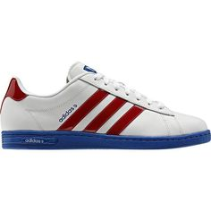5ea5fd7f714 Mens Adidas Trainers Neo Derby II Leather Red White Blue UK Size 7 EU 40.5  NEW