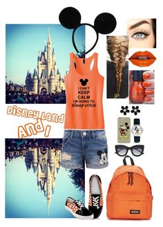 """""""Disney Land And I"""" by atra1999 ❤ liked on Polyvore featuring Disney, The Bradford Exchange, Thierry Lasry, Eastpak and Marc by Marc Jacobs"""