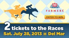 Win clubhouse tickets to the Del Mar Races from Farmers Insurance. #utcontests #sandiego