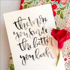 Hand Lettering - Modern Calligraphy with variated baseline and graduated watercolor Watercolor Lettering, Doodle Lettering, Creative Lettering, Lettering Styles, Brush Lettering, Watercolour, Calligraphy Quotes, Calligraphy Letters, Typography Letters
