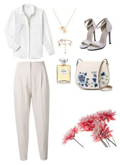 #Allwhite! by joe-khulan on Polyvore featuring polyvore, fashion, style, Lacoste, MaxMara, French Connection, Chanel and clothing