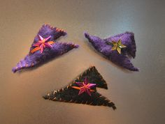 Witch hat magnets $2.00 Wenn's Weird Creations can be found at Etsy and on Facebook Halloween