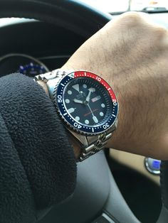 Seiko Pepsi - 10 Years and counting! Seiko Skx009, Seiko Watches, Seiko Diver, Pepsi, Watch Brands, Edc, 10 Years, Counting, Watches For Men