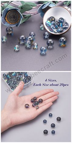 8mm NBEADS 1 Box 120 Pcs//Box Natural Turquoise Beads Round Loose Beads Turquoise Gemstone Healing for Jewelry Making Crafts Hole 1mm
