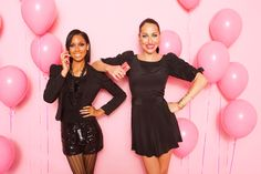 Pink is in the air! Kandi and Niki with the Pink Lumia 900. The perfect accessory to glam up the party. #DualityCosmetics #NokiaPink