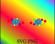 Eyes Sticker SVG PNG Instant Download Circle
