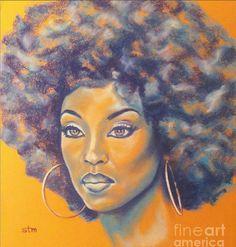 Black Women Art  MoreBlack Women Afro Art