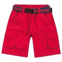 Bermuda infantil menino em tricoline com cinto - Milon