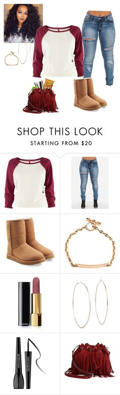 """""""Untitled #5"""" by alexis-rivers-1 ❤ liked on Polyvore featuring H&M, UGG Australia, Hoorsenbuhs, Chanel, Michael Kors, MAKE UP FOR EVER and Rebecca Minkoff"""