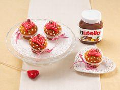 Valentinstags-Cupcakes mit nutella