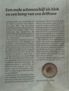De Duurzaam Design Battle stond gisteren (31 maart 1014) in Dagblad Trouw! #blijmee #duurzaamdesign #vdwvm