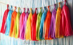 FIESTA Handmade Tissue Tassel Garland / Fiesta by DyanisMemoryBox