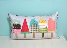 bought the paper piecing pattern yesterday and can't wait to get started sewing!!   a perfect summer pillow!!
