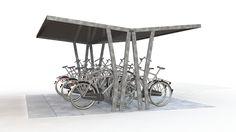 Double-sided bike shelter