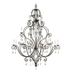 Feiss Lighting Feiss Lighting Chateau Mocha Bronze Crystal Chandelier | F2110/8+4+4MBZ | Destination Lighting