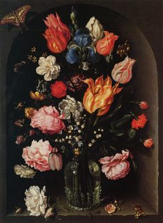 de gheyn flowers | Gheyn II, Jacob (Jacques) de: Blumen in einer Glasvase