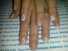 White Roses nails