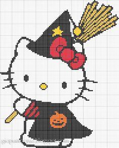 hello kitty bruxinha ponto cruz