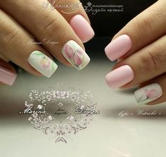 ideas for nails art pink flowers Black Nail Designs, Diy Nail Designs, Nail Designs Spring, French Nails, Ring Finger Nails, May Nails, Water Color Nails, Pretty Nail Art, Super Nails