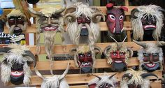"""The Busójárás (Hungarian, meaning """"Busó-walking"""") is an annual celebration of the Šokci (Croats) living in the town of Mohács, Hungary, held at the end of the Carnival season ('Farsang'), ending the day before Ash Wednesday. Popular Art, Arte Popular, St Constantine, In A Little While, Folk Dance, Masks Art, Wallis, Eastern Europe, Hungary"""