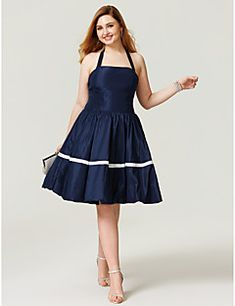 Princess+Halter+Knee+Length+Taffeta+Cocktail+Party+Homecoming+Dress+with+Bow(s)+Pleats+by+TS+Couture®+–+USD+$+199.98