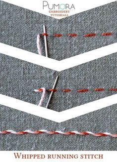 running stitch tutorial