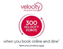 FF points - booking restaurants Earn 500 Velocity Points