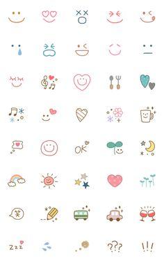 Useful adorable natural emoji 2 – LINE 이모티콘 Bullet Journal Writing, Bullet Journal Aesthetic, Bullet Journal Ideas Pages, Bullet Journal Inspiration, Mini Drawings, Cute Easy Drawings, Doodle Drawings, Small Drawings, Mini Tattoos