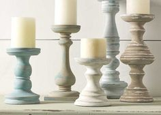 Candle Holders | Chalk Paint Ideas for Rustic Home Decor