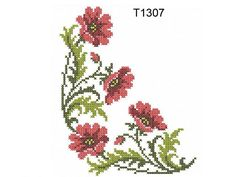 """Poppies in the Cross Stitch Technique""   Machine embroidery design"
