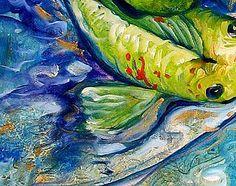 """Koi Three (detail 2)"" par Marcia Baldwin"