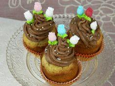 Lieskovoorieškové cupcakes s čokoládovým krémom (fotorecept) - obrázok 4
