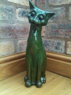 "C H Brannam 1902 Comical 13"" Pottery Cat"
