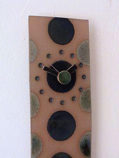 pottery clock   Ceramic clock n stuff
