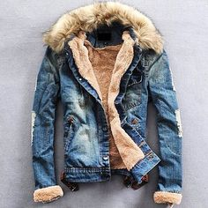 """New Arrival! Exclusive Denim Fur Jacket, $95, Free Worldwide Shipping.  US Sizes. Buy at www.mrmagnata.com  @mrmagnata @mrmagnata @mrmagnata"""
