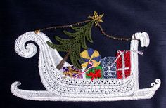 Christmas Sleigh – Lace Making Pattern Have you started your Christmas projects yet? Christmas Balls, Christmas Ornaments, Bobbin Lacemaking, Types Of Lace, Bobbin Lace Patterns, Hairpin Lace, All Craft, Lace Making, Christmas Projects