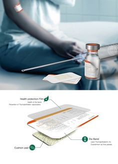 Here's something you never thought of before. Labels that double up as band-aids. Medical Technology, Latest Technology, Technology Gadgets, Tech Gadgets, Cool Gadgets, Futuristic Technology, Wearable Technology, Healthcare Design, Yanko Design