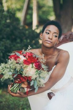 Natural Hair Bridal Styles - short