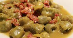 Soy una fan de las alcachofas y siempre hago esta receta en la temporada de ellas. El otro día en casa de mi compañera Marta, descubrí est... Sprouts, Chicken, Meat, Fruit, Vegetables, Food, Chocolates, Diabetes, Pastel