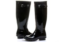 Hunter Gumáky - Womens Original Tall Gloss - W23616-BLK